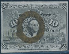 Fr1245 10¢ 2Nd Issue W/O Small Surcharges On Corners Reverse Choice Cu Bt701