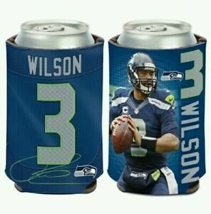 RUSSELL WILSON SEATTLE SEAHAWKS SOFT FOAM CAN COOZIE KOOZIE COOLER HOLDER