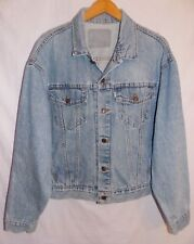 Levi`s Denim Trucker Jacket Vintage White Tab Jean Coat Men`s Size Large?