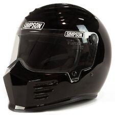 Simpson Outlaw Bandit Helmet  - Gloss Black Size XL - FREE SHIPPING (USA)!