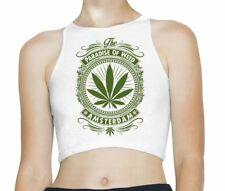 Amsterdam Paradise of Weed Sleeveless High Neck Crop Top