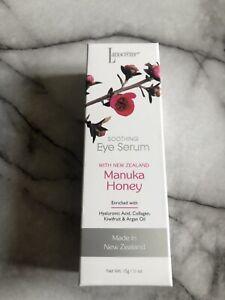 Lanocreme Eye Serum Roller Manuka Honey Hyaluronic Acid Collagen Argan  1/2 Oz