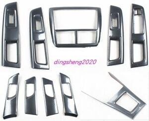 10PCS Carbon Fiber Car Interior kit Cover Trim For Subaru Forester 2008-2012