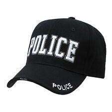 BLACK POLICE LAW ENFORCEMENT COPS HAT HATS CAP CAPS