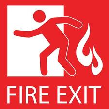 "Fire Exit Sign 8"" x  8"""