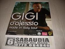 "GIGI D'ALESSIO - LOCANDINA TOUR "" MADE IN ITALY ""   34 x 48"