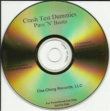 CRASH TEST DUMMIES Puss Boots GOLD ADVNCE PROMO DJ CD