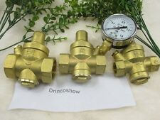 "1/2""Water Pressure Reducing Valve  Relief Valve With Guage Adjustable Water Flow"