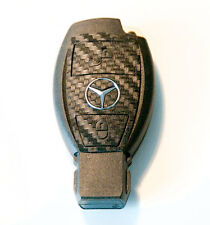 Mercedes A B S C E M class 2 button W207 W169 carbon fiber style key sticker.