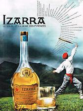 PUBLICITE ADVERTISING  1965   IZARRA   liqueur basque