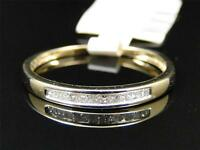 10K Womens Ladies Yellow Gold Round Diamond Engagement Wedding Fashion Band Ring