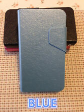 Nokia Lumia 620 Ultra Slim Wallet Flip stand Cover Case with card slots Blue