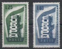 1956 REPUBBLICA FRANCOBOLLI EUROPA SERIE 2 VALORI BEN CENTRATI - MNH G.I.**