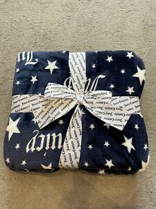 Juicy Couture Navy Throw Blanket With Stars, BN