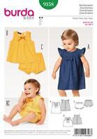BURDA SEWING PATTERN BABIES TODDLER DRESS & PANTIES SIZE 3M - 2 9358