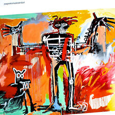 Jean Michel Basquiat Head players art Fabric Poster room decor 24x36 A-194