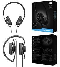 Sennheiser HD 2.10 Lightweight Foldable Closed Back Black Headphones 3.5mm Jack