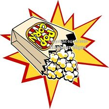 Popcorn DECAL (Choose Your Size) Starburst Concession Food Truck Sticker