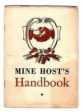 New listing Wine & drink recipes, Mine Host'S Handbook, National Distillers Products, 1934