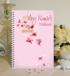 Personalised A5 Softbacked Notebook, Notepad, wire bound, for her