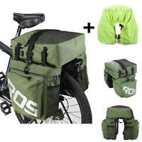 Waterproof 3 in 1 Roswheel 35L Cycling Bicycle Rear Rack Bike Pannier Seat Bag