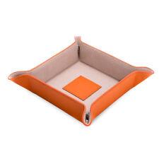 Bey Berk Orange Lizard Leather Snap Valet with Pig Skin Leather Lining