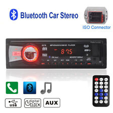 1Din Bluetooth Car Radio Stereo FM In-dash MP3 Player WMA/EQ Handsfree SD/AUX