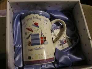 Happy Birthday Wishes Have a Fantastic Day mug in a box giftset