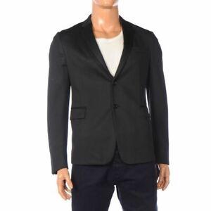 PRADA Jacket Dark Blue Button Front Jersey Blazer Size 48 AZ 228