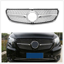 For Mercedes Benz V class W447 15-18 Diamond Star Front Grille Chrome W/O Camera