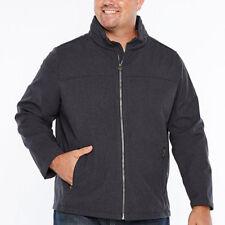 Dockers Men's Performance Soft Shell Open Bottom  Grey Jacket Size: Med $140