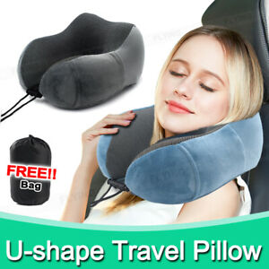 U-shaped Travel Pillow Memory Foam Rebound Sleeping Pad Neck Support Headrest