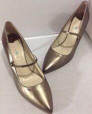 Boden Women's Metallic Pewter Pointed Toe Pumps Shoes Size 41 / 10