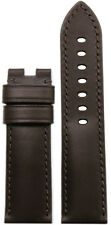 24mm Panatime Brown Italian Leather Watch Band w MS For Panerai Deploy