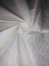 """3 Meter White Embroided Broderie Anglaise 100%Pure Cotton Dress Fabric 45""""Wide"""