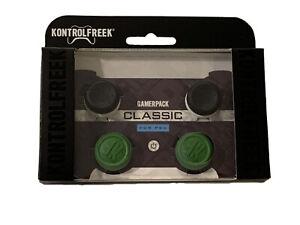 KontrolFreek Classic Thumbsticks PS4 PS5 FPS PlayStation Gamerpack 2 Pack Black