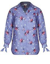 Plus Size Autograph Floral Bloom Tie Long Sleeve Blue Colour Shirt Size 16