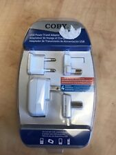 Coby CA84 USB Power Travel Adapter - US/UK/Europe/China