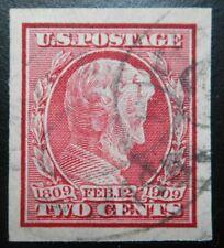 U.S. Stamp: Scott#368, 2c, Carmine, The Lincoln Centenary of Birth, Issue 1909