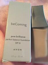 Avon Becoming Puro BRILLIANCE equilibrio Base Trigo 34 SPF 8 NUEVO EN CAJA