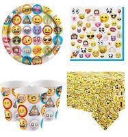 Boys Girls Teens Emoji Fun Birthday Party Decoration Paper Tableware Kit
