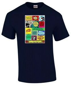 JAM RETRO T SHIRT TRIBUTE, ENGLAND, MOD, WELLER, SCOOTERS ,FOXTON BLACK OR NAVY