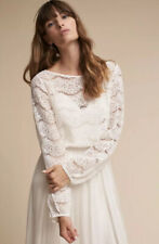 NEW BHLDN Madeline Fig Maureen Topper Size Large Ivory Lace
