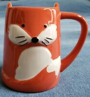 Orange & White Fox Coffee Cup Mug Pointed Ears TAG Office Co-worker Gift Present