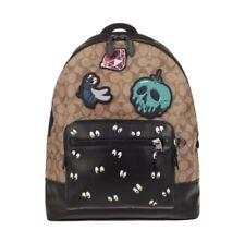NWT $698 Disney Coach Signature Backpack Dark Disney Patches Spooky Eye F72954