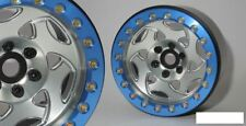 "SSD 2.2"" Champion Beadlock Wheels SILVER BLUE ring SSD00238 SSD-RC Crawler"