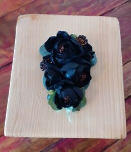 Beautiful Hamdmade Hair Flower Corsage Vintage 1940s Pin up Wartime style