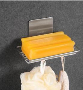 3M Self-Adhesive Bath Stainless Steel Brush Nickel Soap Dish Holder Soap Basket