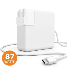 "A1719 87W USB-C Power Adapter For Apple MacBook pro 15"" + USB-C Cable + One plug"