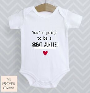 You're Going To Be A Great Auntie Bodysuit Announcement Reveal Baby Aunty Grow